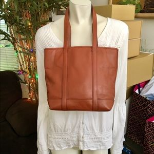 Coach Genuine Leather Cognac Vintage Tote Bag